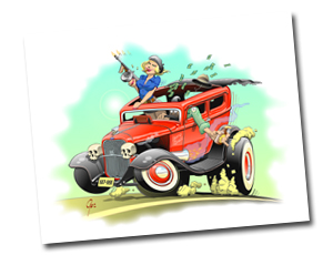 The HOT ROD Art of Ger Peters pagina 5
