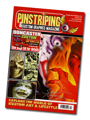 Pinstriping & Kustom Graphics Magazine September 2008