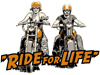 """Ride for Life"" motorcycle rally T-shirt design"