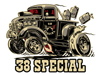"1938 Chevrolet gasser pickup ""38 Special"" T-shirt designs"