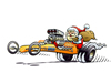 St. Nick dragster holiday card